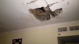 תיעוד: פגיעה בבניין דירות באשקלון