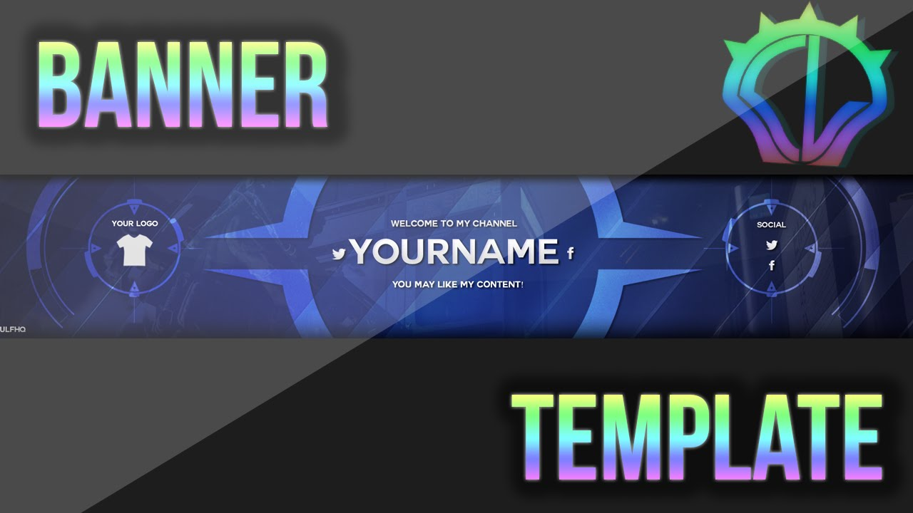 Sick youtube banner template psd (photoshop cc + cs6) | free in.