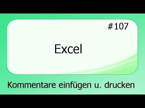 Excel kommentare drucken
