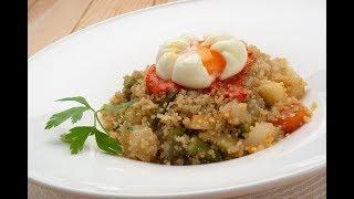 Quinoa con verduras y huevo flor - Karlos Arguiñano en tu cocina