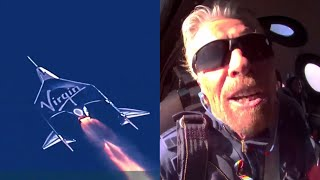 Watch Richard Branson fly to space (Virgin Galactic Unity22 supercut)