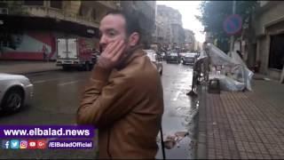 هطول أمطار غزيرة فى شوارع القاهرة والجيزة .. فيديو وصور