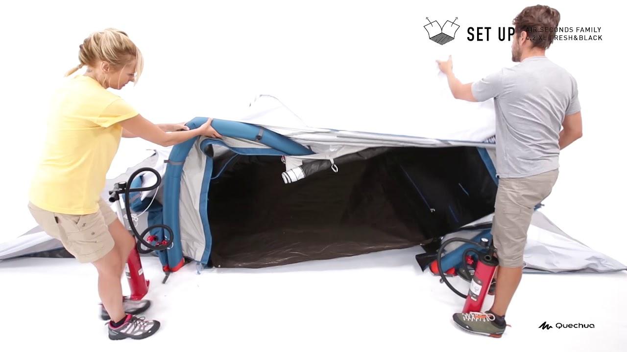 8d302e86b Monter sa tente    Je tent Air Seconds Family 4.2 XL Fresh   Black opzetten
