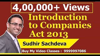 Introduction to Companies Act 2013 [ Chapter-1 Nature of Company]