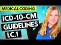 ICD-10-CM MEDICAL CODING GUIDELINES EXPLAINED - CHAPTER 1 GUIDELINES - INFECTIOUS DISEASES