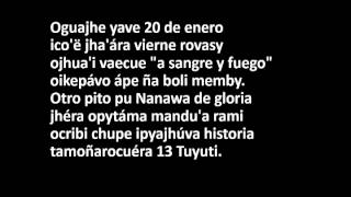 13 tuyuti letra completa version Francisco  (guaraní)