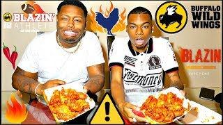 BLAZIN BUFFALO WILD WINGS CHALLENGE!!!!!!🔥🔥🌡️ Video