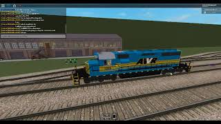 ROBLOX AWVR 1206 catches up to AWVR 777 the Runaway Freight Train