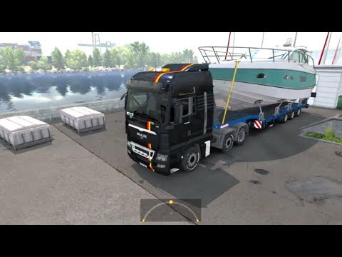 ETS2. Yacht Queen V39 from marseille to montpellier