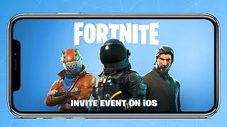 FORTNITE BATTLE ROYALE Mobile Game Trailer (2018) IPhone X