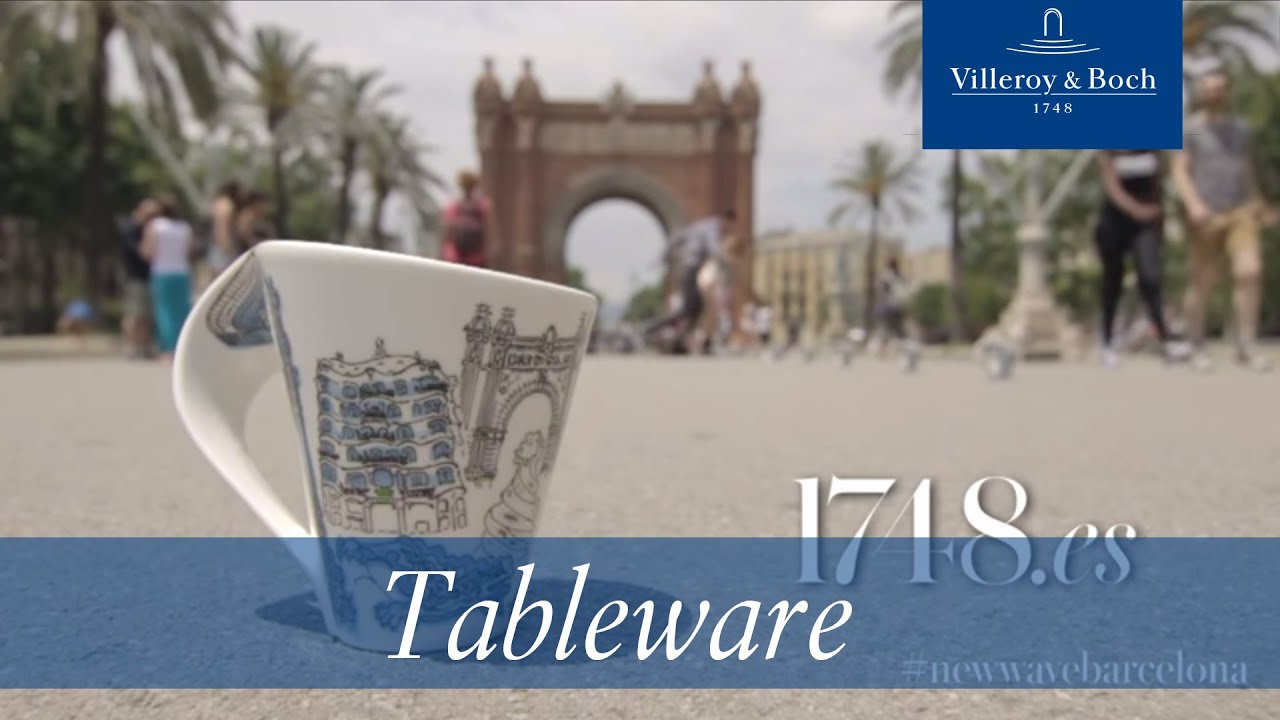tableware design new wave barcelona villeroy boch youtube. Black Bedroom Furniture Sets. Home Design Ideas