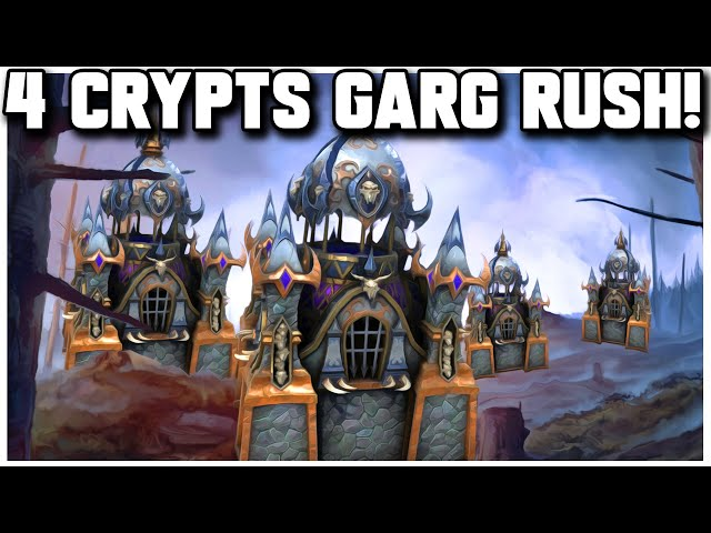 Grubby | WC3 4v4 | Super 4 CRYPTS Gargs RUSH!