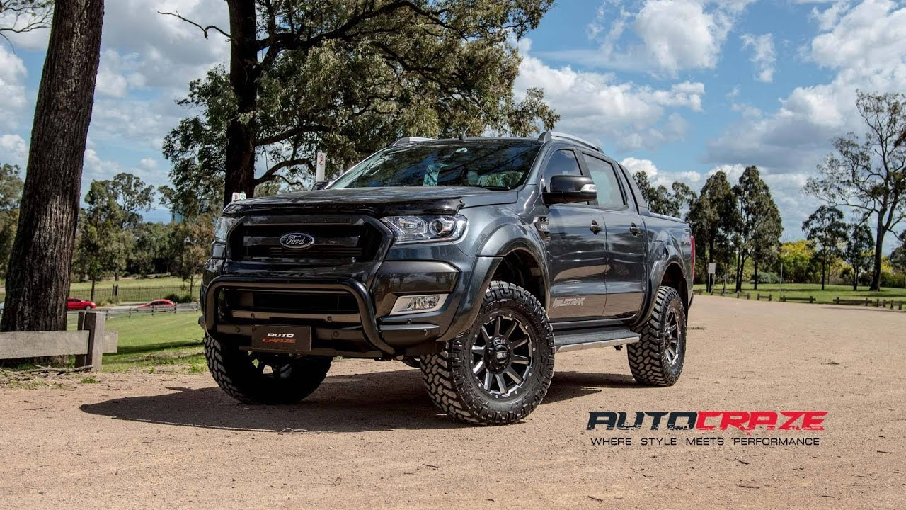 Matte Black Ford Ranger Wildtrak 2017 >> Sumo Ranger - Ford Ranger Wildtrak Wheels - GRID GD05 Rims | AutoCraze - YouTube