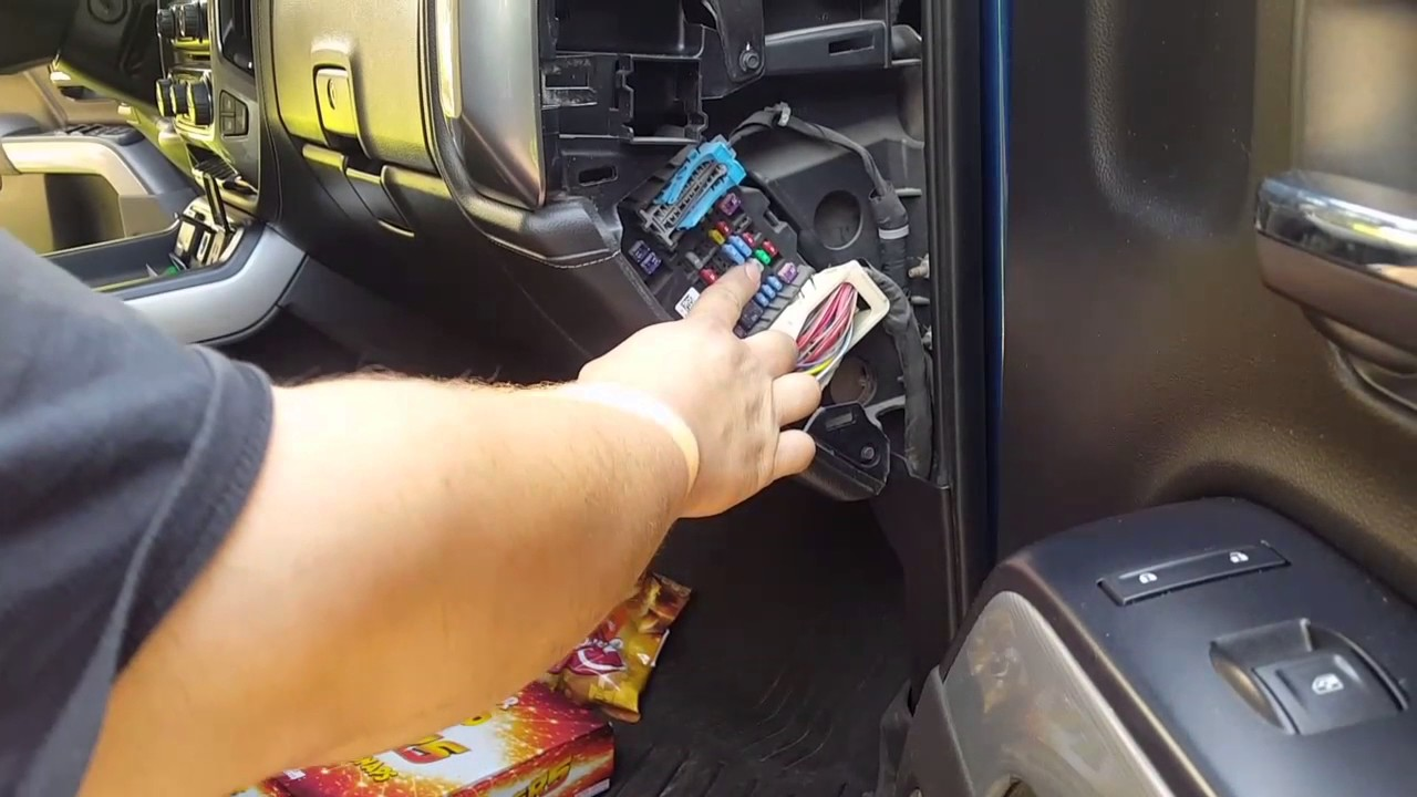 maxresdefault requested video) removing fuse panel covers on 2015 2500 silverado where is the fuse box on a 2015 gmc sierra at nearapp.co