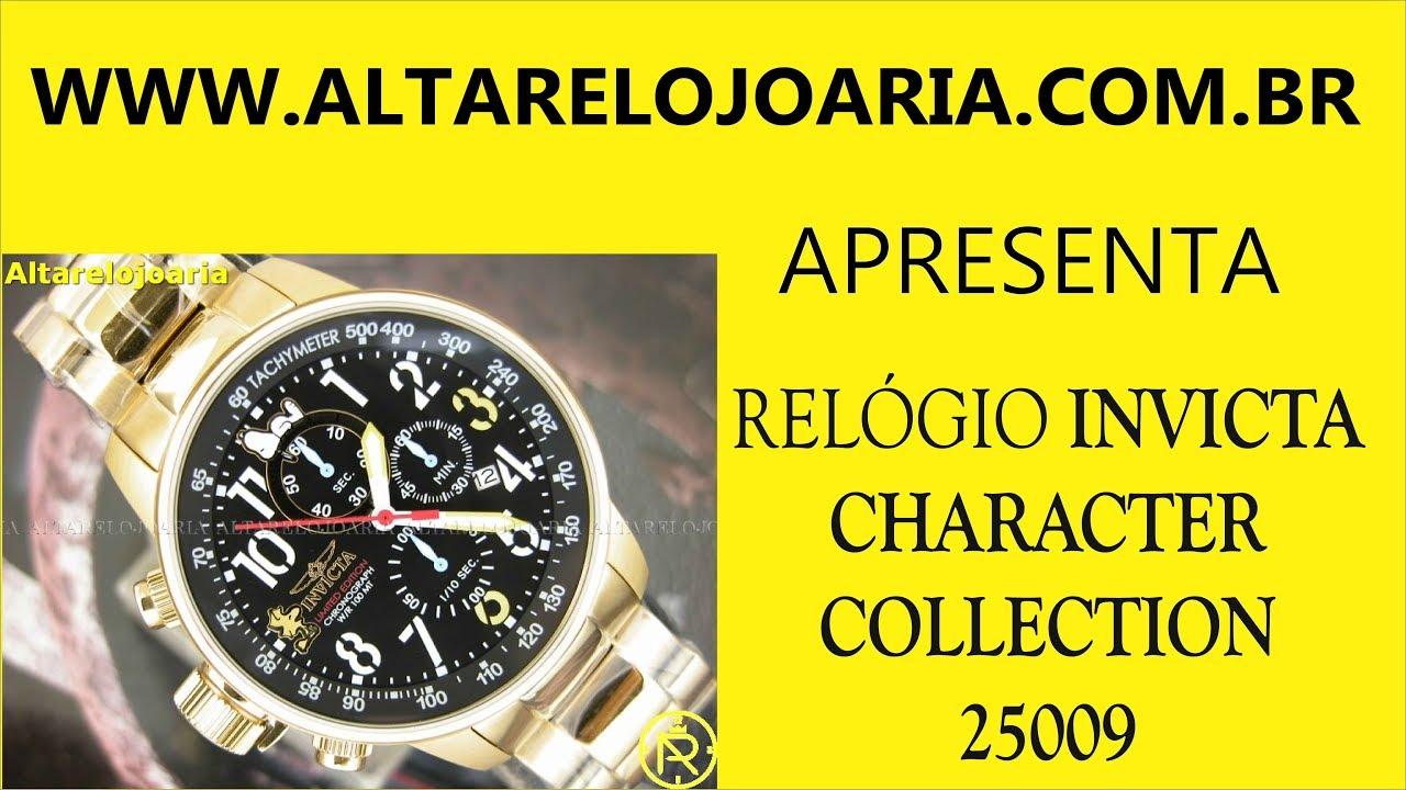 982eb07cbb6 Relógio invicta Cronógrafo Plaque Ouro Edição Especial Snoopy 25009.  Altarelojoaria