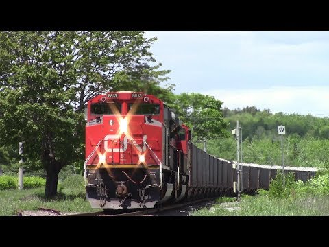 Two SD70M-2's Lead CN Loaded Gypsum Train 511 at Windsor Jct., NS (June 16, 2016)