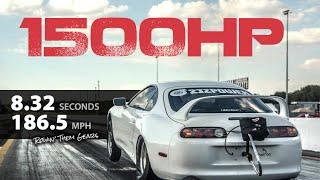 1500HP Supra 6 Speed CRAZY Fast!