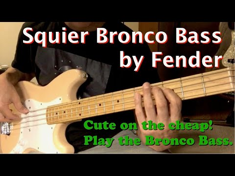Squier Bronco Bass by Fender