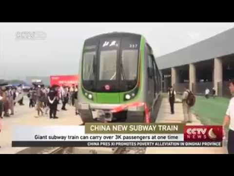 China's largest subway train unveiled in Beijing