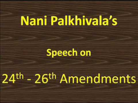 Speech of India's greatest lawyer Nani Palkhivala on Emergency