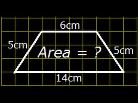 Area of Isoceles Trapezium (Trapezoid) - Solved Problem (Tricky Problem)
