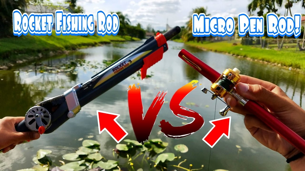Fishing with micro pen fishing rod rocket fishing rod for Micro fishing pole