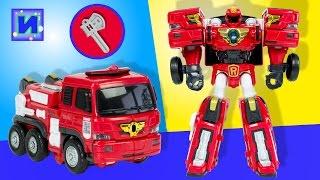 Тоботы трансформеры: Тобот R Пожарная машина с сиреной и мигалкой. Распаковка.