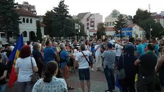 11 august 2018 - protest la Bistrița