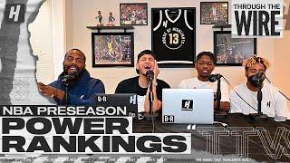 NBA Preseason Power Rankings | Through The Wire Podcast