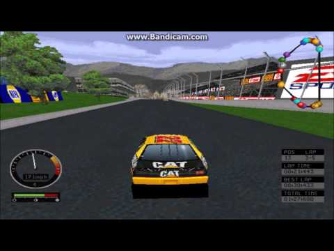 NASCAR Road Racing PC Gameplay (Ward Burton) (Bridgeport Speedway) (5 Laps)