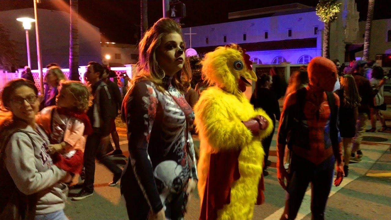halloween 2017 on lincoln road, miami beach - youtube
