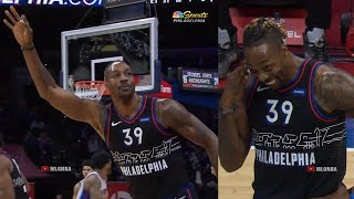 Dwight Howard shocks Sixers crowd after hits three-pointer & celebrates it like Melo😄