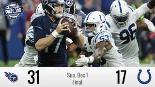 Week 13 Recap: Colts (17) vs Titans (31) | Tennessee Scores 24 Unanswered To Closeout Colts