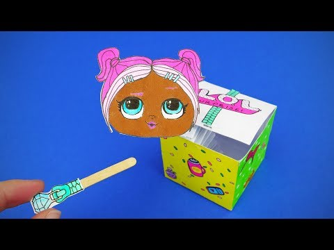 DIY LOL Dolls Surprise Pop Out Paper Toy | Jack In The Box Video Tutrial