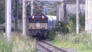 ブルートレイン信州 復路 中央本線 川岸駅 到着 Sleeping Limited Express〝shinshu〝