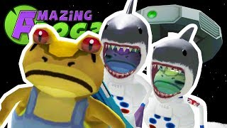 NEW MOON UFO & SPACE SHARK FROGS - Amazing Frog - Part 101 | Pungence