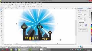 corel draw tutorial greeting card idul fitri day