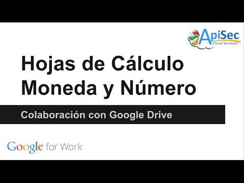 Formato de Moneda y Número en hojas de cálculo de Google - YouTube