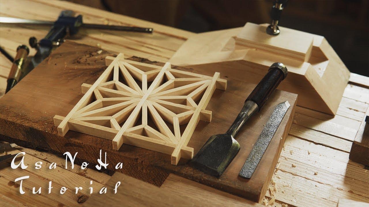 Making The Asanoha Pattern Kumiko Tutorial Youtube