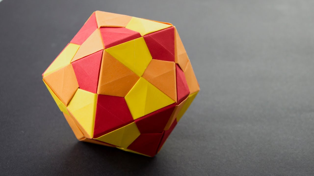 how to make a icosahedron out of paper