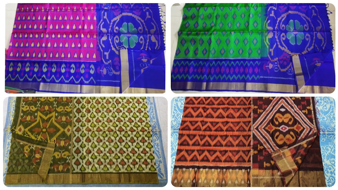 Pure pochampally soft silk sarees now in Singapore / Ikkat silk cotton sarees at Indian market price