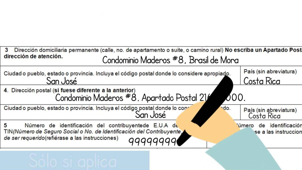 Tutorial formulario w 8ben youtube tutorial formulario w 8ben falaconquin