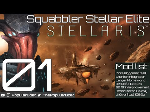 Squabbler Stellar Elite [Modded Stellaris | 600 Systems] - Part 01 - Introducing the Squab Squad