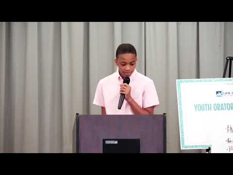 Jaden Smith, Life Changing, LLC 2018 Youth Oratorical Contest 2nd Place Winner