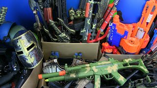 Box of Toy Guns ! Lots of Guns Toys & Equipment - Rifles,Bomb,Nerf,Swords,Knife Toys and more ....