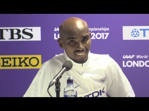 Mo Farah Press Conference After Winning World Championships 10,000m Gold