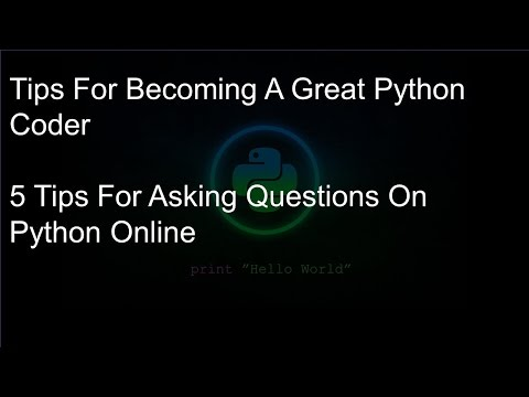 Tips For Becoming A Confident Python Coder - 5 Tips For Asking Questions On Python Online