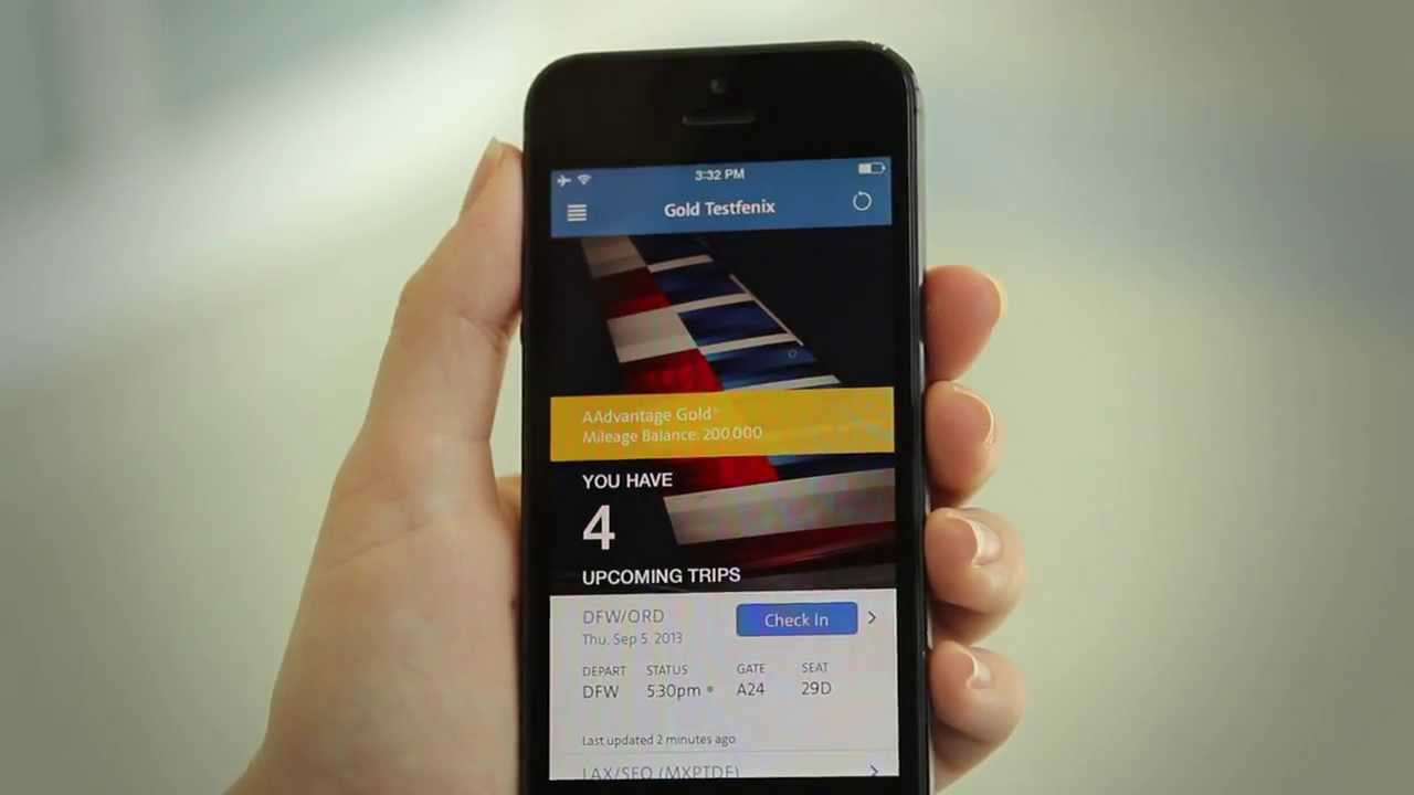 American Airlines Travel App Redesigned For Ios7 Youtube