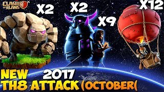 PEKKA + BALLOON: GoPeLoon NEW TH8 WAR ATTACK STRATEGY 2017 | Clash of Clans