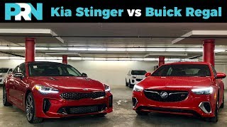 Kia Stinger GT vs Buick Regal GS | TestDrive Showdown